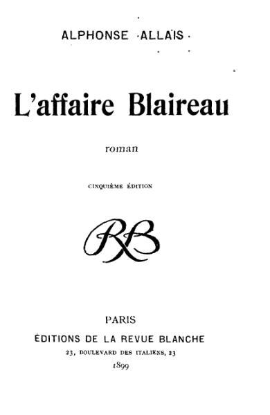page1-390px-Allais_-_L'Affaire_Blaireau.djvu